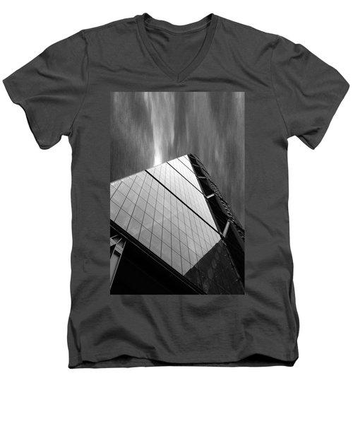 Sharp Angles Men's V-Neck T-Shirt by Martin Newman