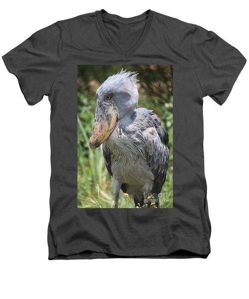 Shoebill Stork Men's V-Neck T-Shirt by Carol Groenen