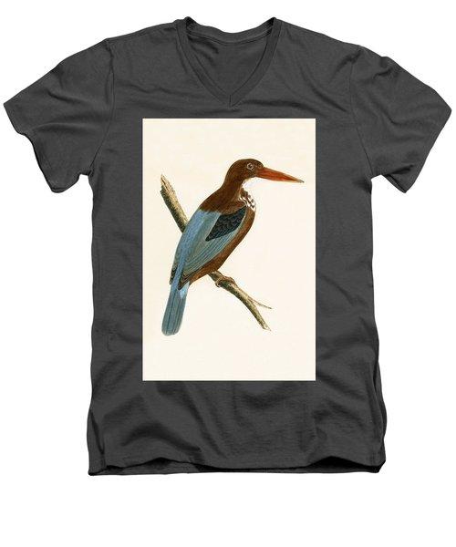Smyrna Kingfisher Men's V-Neck T-Shirt by English School