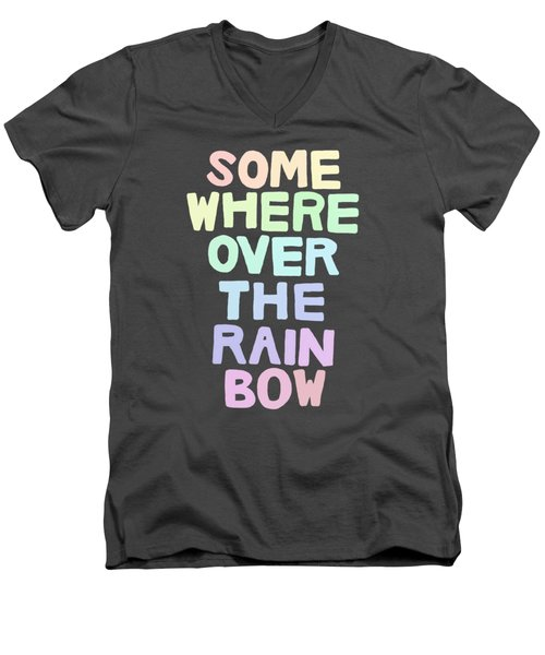 Somewhere Over The Rainbow Men's V-Neck T-Shirt by Priscilla Wolfe