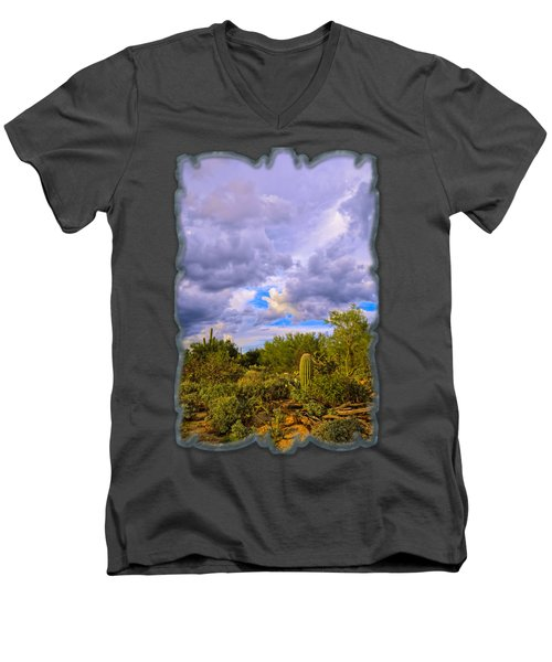 Sonoran Desert V13 Men's V-Neck T-Shirt by Mark Myhaver