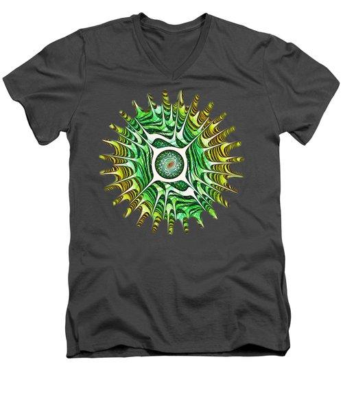 Spring Dragon Eye Men's V-Neck T-Shirt by Anastasiya Malakhova