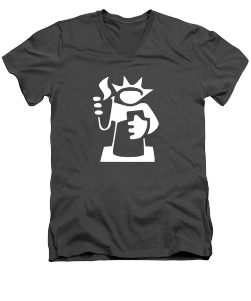 Statue Of Liberty Men's V-Neck T-Shirt by Frederick Holiday