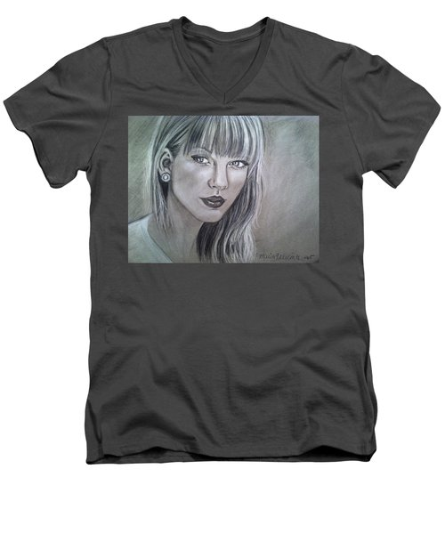Stay Beautiful Men's V-Neck T-Shirt by Maria Ferrante