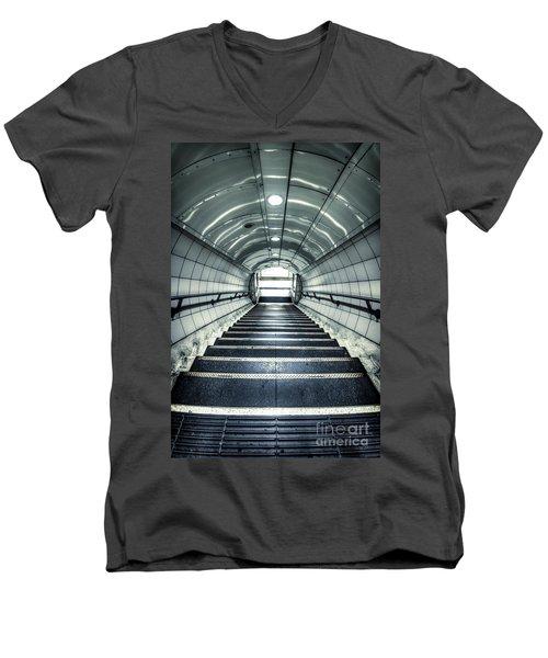 Steppings Tones Men's V-Neck T-Shirt by Evelina Kremsdorf