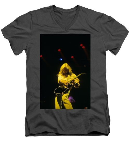 Steve Clark Men's V-Neck T-Shirt by Rich Fuscia