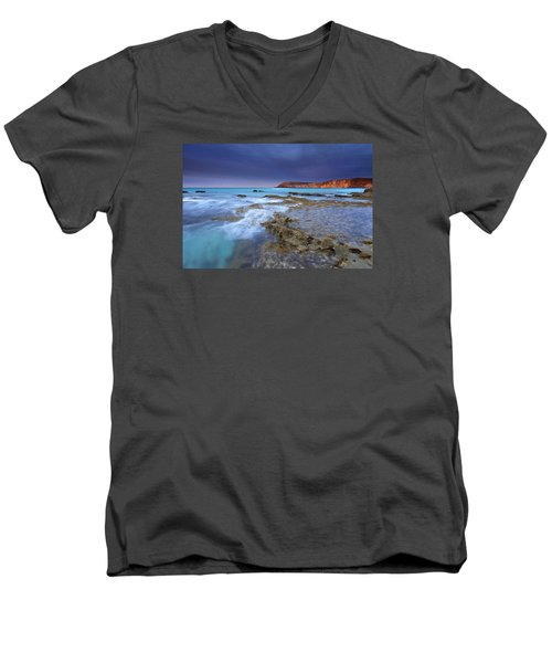 Storm Light Men's V-Neck T-Shirt by Mike  Dawson