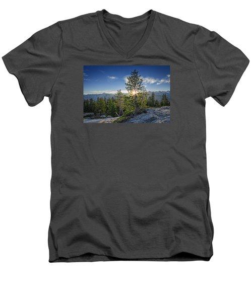 Sunrise On Sentinel Dome Men's V-Neck T-Shirt by Rick Berk