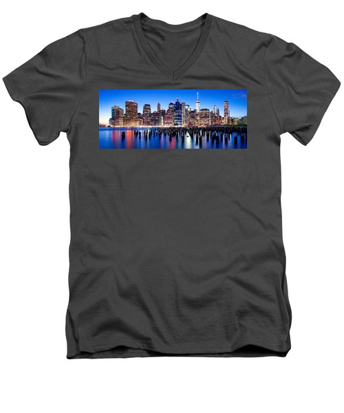 Magic Manhattan Men's V-Neck T-Shirt by Az Jackson