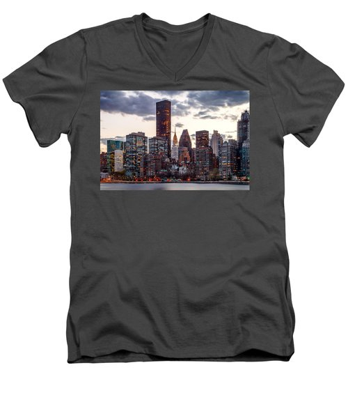 Surrounded By The City Men's V-Neck T-Shirt by Az Jackson