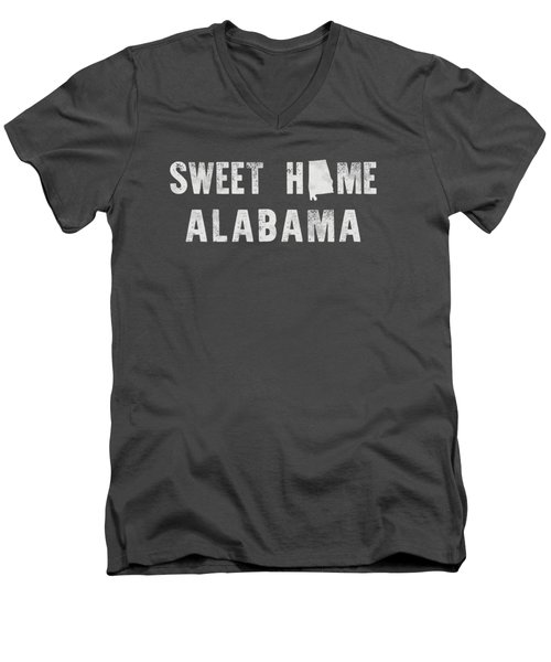 Sweet Home Alabama Men's V-Neck T-Shirt by Nancy Ingersoll