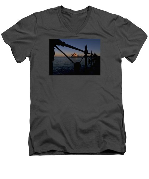 Men's V-Neck T-Shirt featuring the photograph Sydney Opera House by Travel Pics