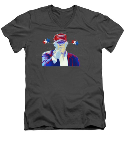 T R U M P Donald Trump Men's V-Neck T-Shirt by Mr Freedom