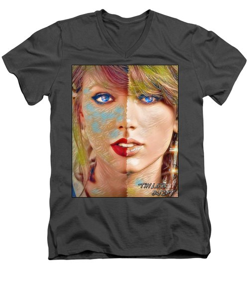 Taylor Swift - Blended Perfection Men's V-Neck T-Shirt by Robert Radmore