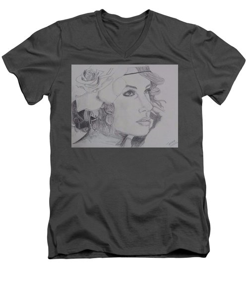 Taylor Swift Men's V-Neck T-Shirt by Tanmaya Chugh