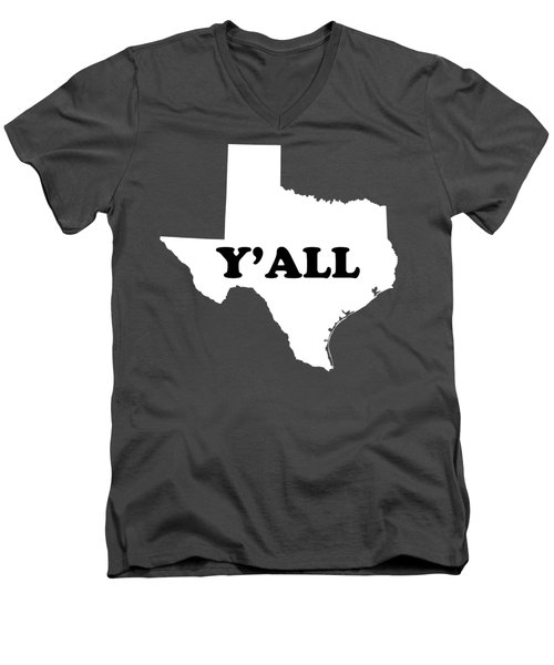 Texas Yall Men's V-Neck T-Shirt by Michelle Murphy