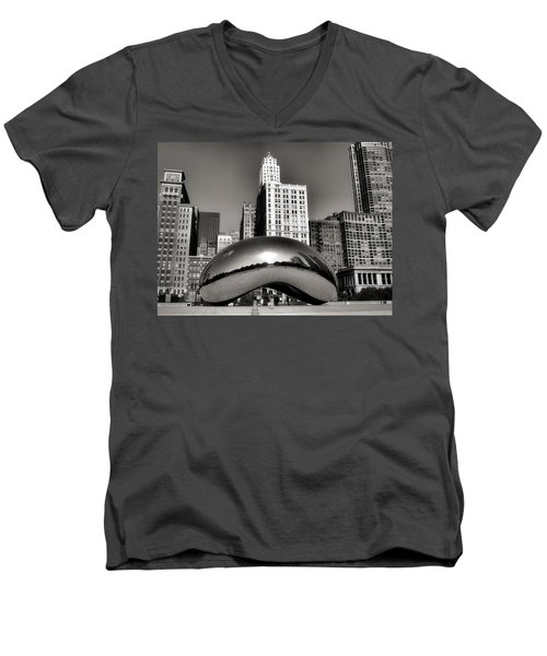 The Bean - 3 Men's V-Neck T-Shirt by Ely Arsha