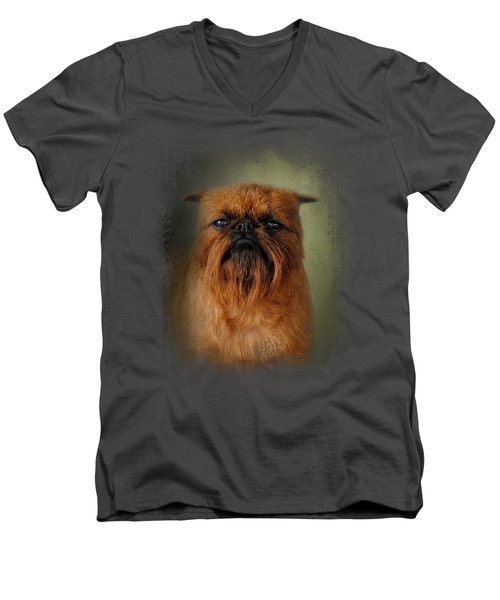 The Brussels Griffon Men's V-Neck T-Shirt by Jai Johnson