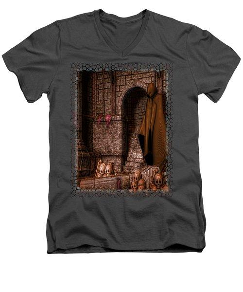 The Dark Men's V-Neck T-Shirt by Sharon and Renee Lozen
