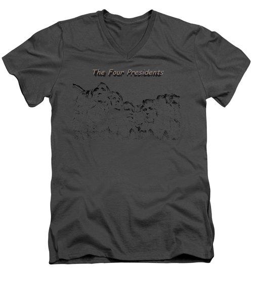 The Four Presidents 2 Men's V-Neck T-Shirt by John M Bailey