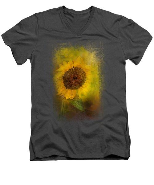 The Happiest Flower Men's V-Neck T-Shirt by Jai Johnson
