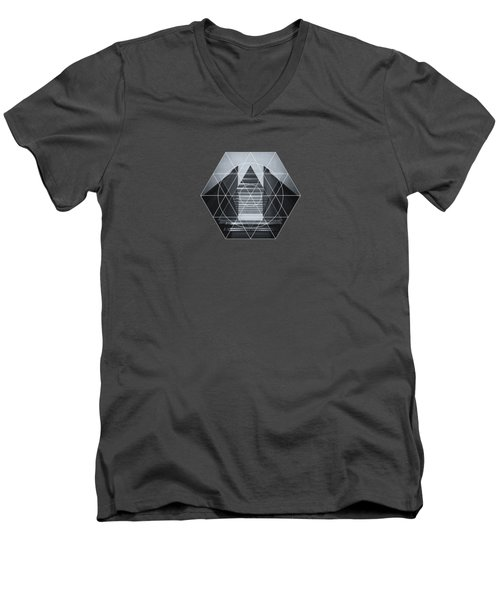 The Hotel Experimental Futuristic Architecture Photo Art In Modern Black And White Men's V-Neck T-Shirt by Philipp Rietz