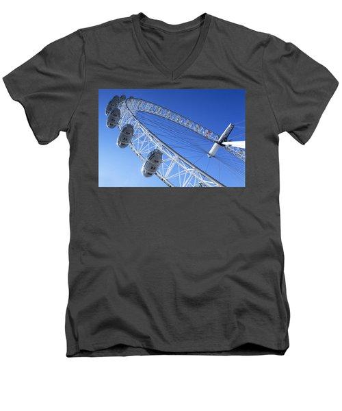 The London Eye, Close-up Men's V-Neck T-Shirt by Simon Kayne