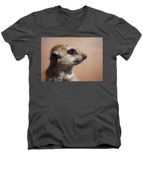 The Meerkat Da Men's V-Neck T-Shirt by Ernie Echols