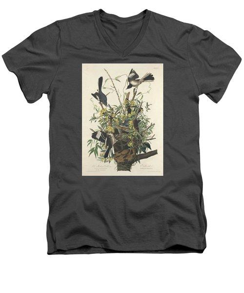 The Mockingbird Men's V-Neck T-Shirt by John James Audubon