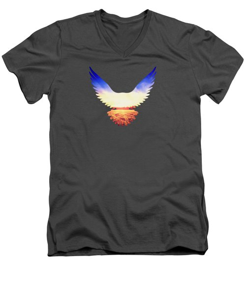 The Wild Wings Men's V-Neck T-Shirt by Philipp Rietz