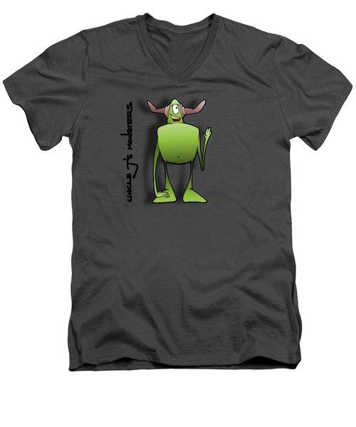 Tollak Men's V-Neck T-Shirt by Uncle J's Monsters