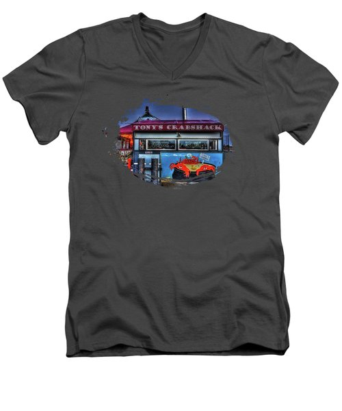 Tonys Crabshack Men's V-Neck T-Shirt by Thom Zehrfeld