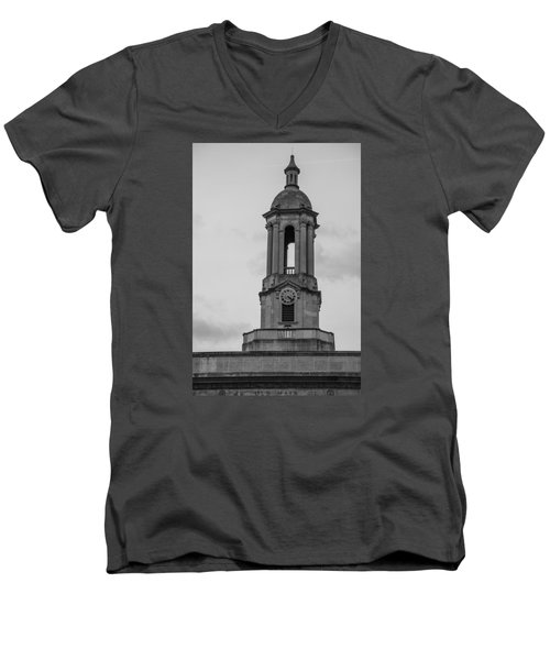 Tower At Old Main Penn State Men's V-Neck T-Shirt by John McGraw