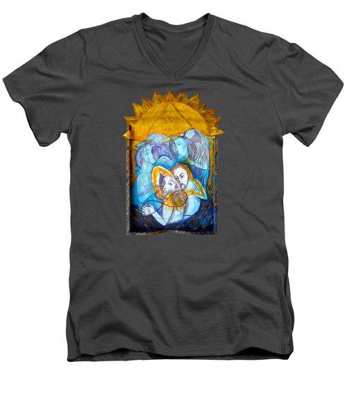 Transmisson Men's V-Neck T-Shirt by Joanna Whitney