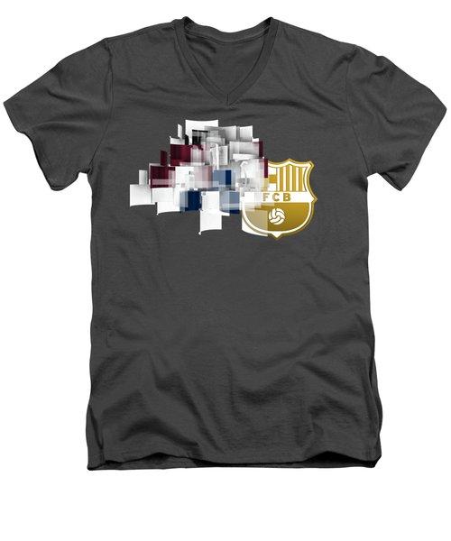 Tribute To Fc Barcelona 6 Men's V-Neck T-Shirt by Alberto RuiZ