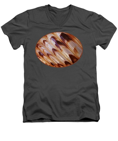 Triton Seashell Abstract Men's V-Neck T-Shirt by Gill Billington