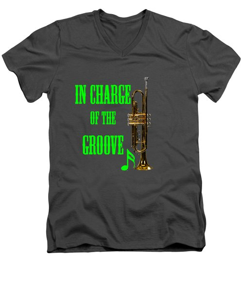 Trumpets In Charge Of The Groove 5535.02 Men's V-Neck T-Shirt by M K  Miller