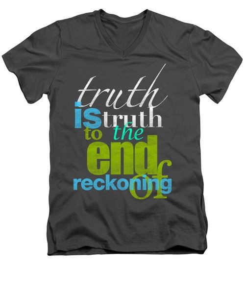 Michael Jackson Truth Is Truth Men's V-Neck T-Shirt by D Francis