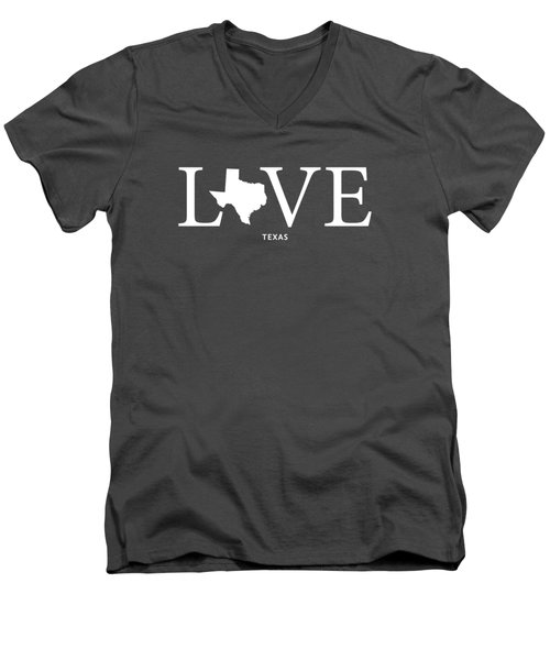 Tx Love Men's V-Neck T-Shirt by Nancy Ingersoll