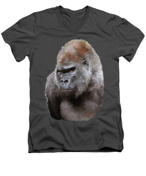 U Lookin At Me Men's V-Neck T-Shirt by James Shepherd