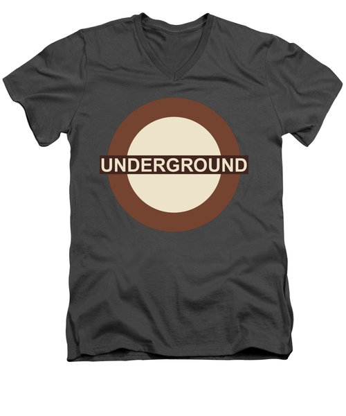 Underground75 Men's V-Neck T-Shirt by Saad Hasnain