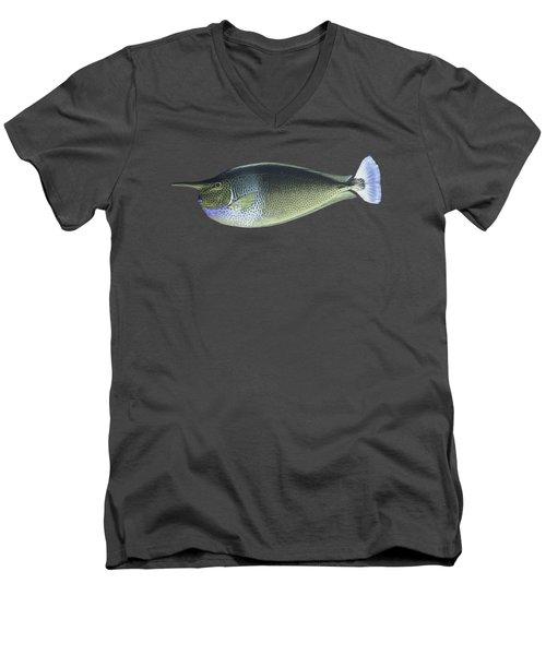 Unicorn Fish Men's V-Neck T-Shirt by Roy Pedersen