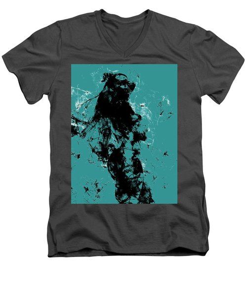 Venus Williams 4f Men's V-Neck T-Shirt by Brian Reaves