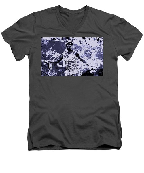 Venus Williams Stay Focused Men's V-Neck T-Shirt by Brian Reaves