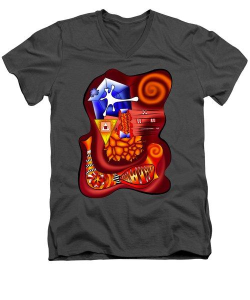 Versophomus V3 - Abstract Digital Painting Men's V-Neck T-Shirt by Cersatti