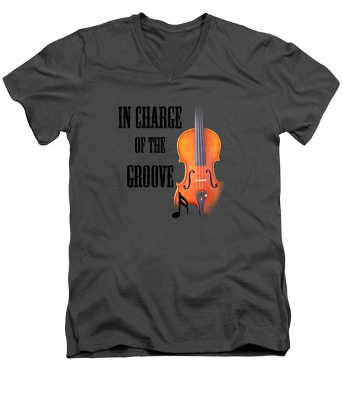 Violin Violas In Charge Of The Groove 5540.02 Men's V-Neck T-Shirt by M K  Miller