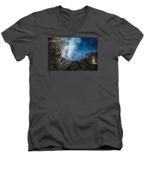 Men's V-Neck T-Shirt featuring the photograph Volcano by M G Whittingham