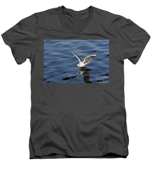Walking On Water Men's V-Neck T-Shirt by Michal Boubin