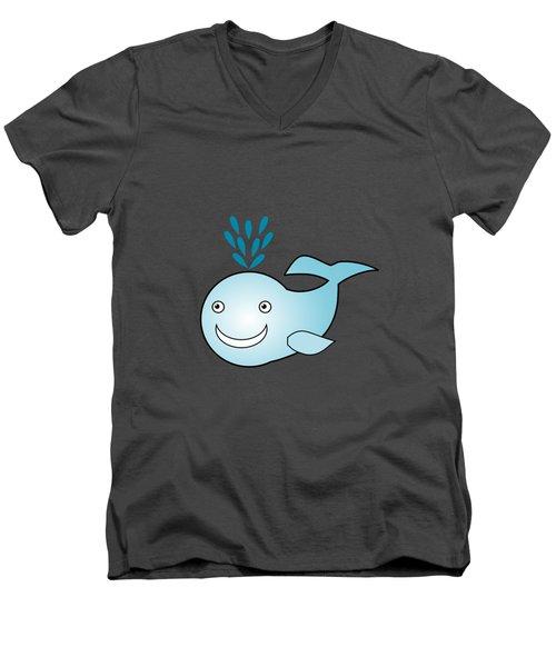 Whale - Animals - Art For Kids Men's V-Neck T-Shirt by Anastasiya Malakhova
