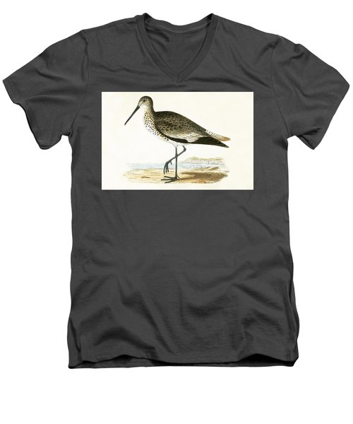 Willet Men's V-Neck T-Shirt by English School